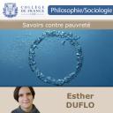 Savoirs contre pauvreté - Esther Duflo